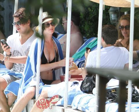 Katy Perry - wearing a bikini at a hotel pool in Miami  42