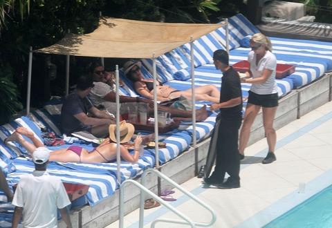 Katy Perry - wearing a bikini at a hotel pool in Miami  49