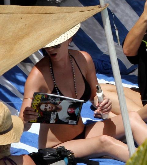 Katy Perry - wearing a bikini at a hotel pool in Miami  24
