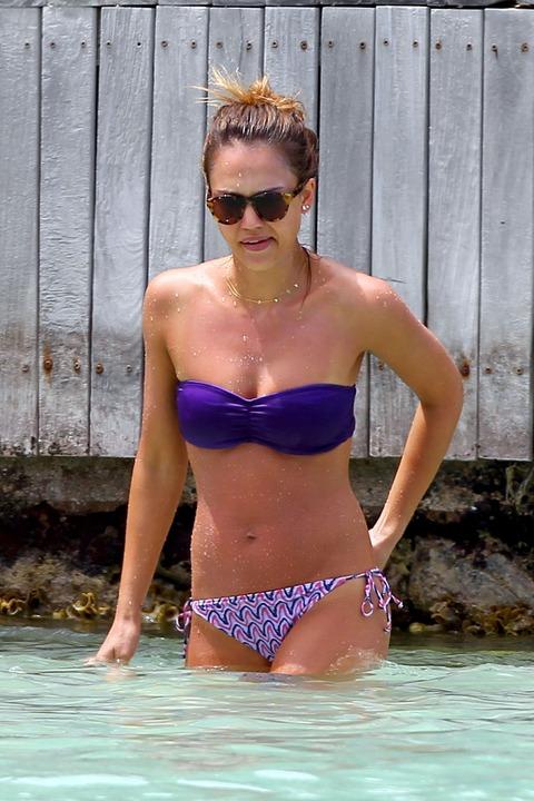Jessica Alba  Purple Bikini  St Barts 040