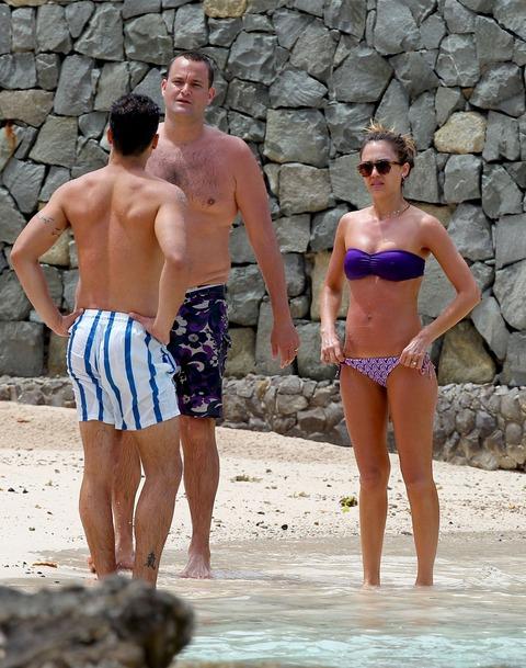 Jessica Alba  Purple Bikini  St Barts 028