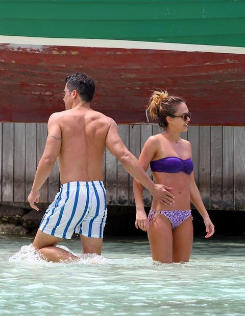 Jessica Alba  Purple Bikini  St Barts 034