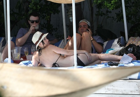 Katy Perry - wearing a bikini at a hotel pool in Miami  22