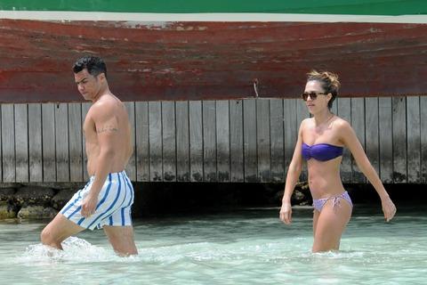 Jessica Alba  Purple Bikini  St Barts 007