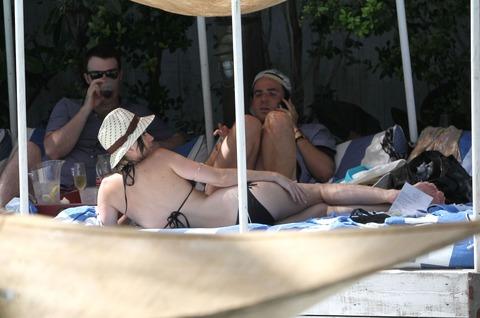 Katy Perry - wearing a bikini at a hotel pool in Miami  21