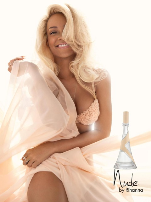 Rihanna - Bra & Panties in 'Nude' Fragrance Ad