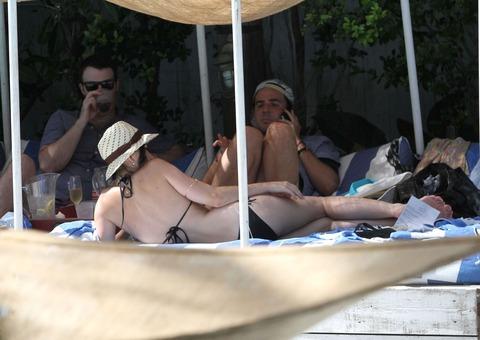 Katy Perry - wearing a bikini at a hotel pool in Miami  20