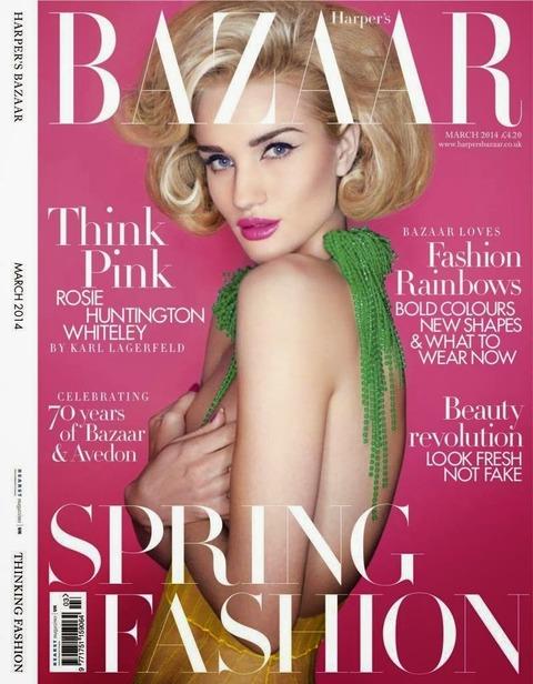 Rosie Huntington Whiteley for Harper's Bazaar UK March 2014 1