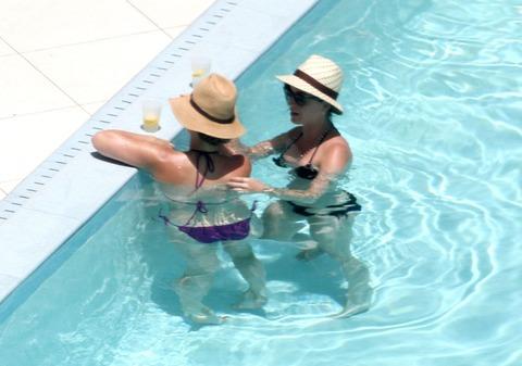 Katy Perry - wearing a bikini at a hotel pool in Miami  14