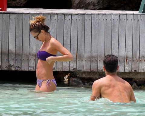 Jessica Alba  Purple Bikini  St Barts 035