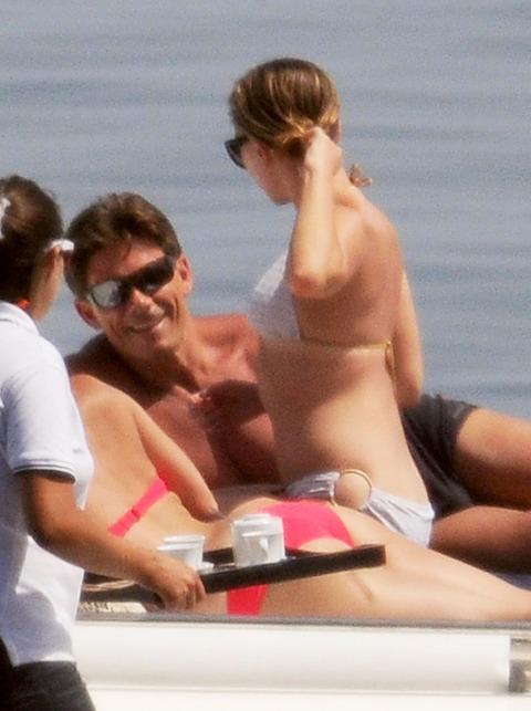 Scarlett Johansson bikini on a yacht in Taormina 12