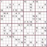 16×16枠フリーダウンロード難問数独問題印刷用