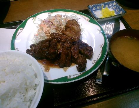 京都ぐりぐらの豚テキ定食