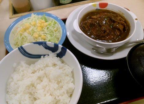 松屋のビーフシチューハンバーグ定食