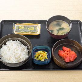 吉野家の辛子明太子定食390円wwwwwwwwww