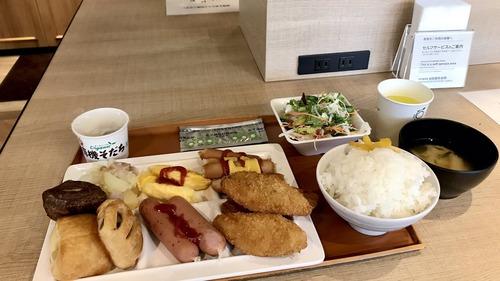 【画像】出張ワイ、ビジホのビュッフェで優雅な朝食wwwwwwww