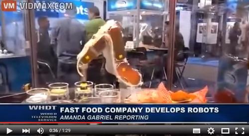 飲食店でもいよいよ始まった技術的失業問題 ハンバーガーはロボットが作る時代に