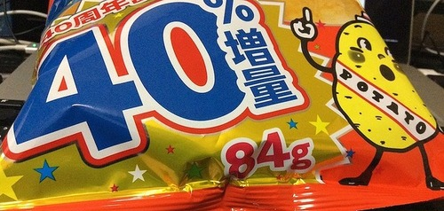 カルビー、期間限定でポテトチップスを60g→84gに増量