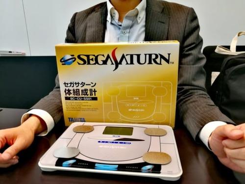 セガサターンがタニタとコラボで体組成計に進化。「セガサターン体組成計」発売