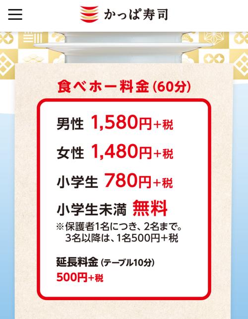 かっぱ寿司の60分食べ放題1580円がガチで神だとワイの中で話題