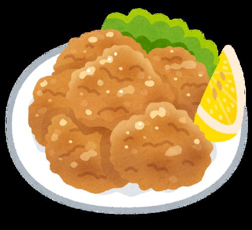 鶏肉をニンニクタレに漬けて一晩置いて唐揚げにしたんやけどさ