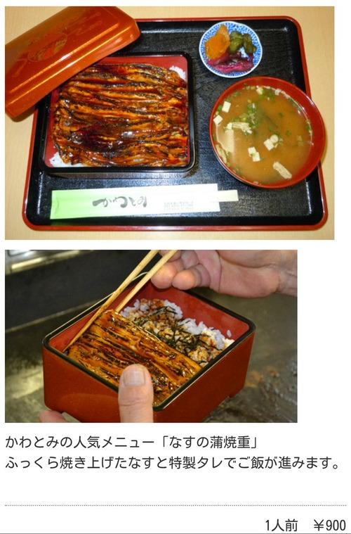 定食屋さん、焼いたナスをご飯に乗せたメニューで900円取る