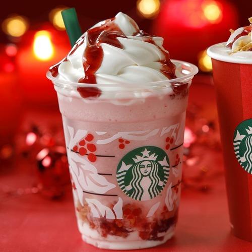 スタバのクリスマスストロベリーケーキフラペが人気過ぎて売り切れ続出! 売り切れ時のメニューがレア