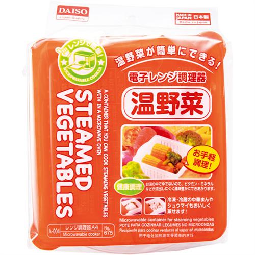 100均で電子レンジで温野菜作る容器を買った。今ブロッコリーレンジでチンしている。