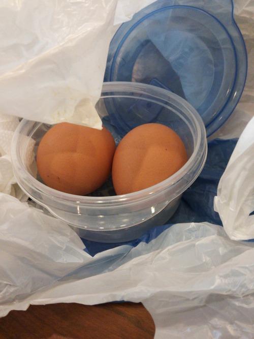 丸亀製麺に生卵を持参して勝手にトッピングしてる馬鹿を発見した