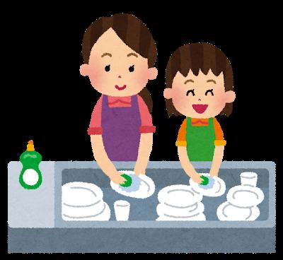 子どもに自分が使った食器を洗えと言っても洗わない場合