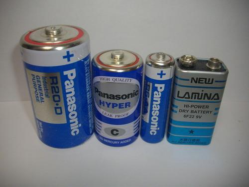 マンガン乾電池には「赤」と「黒」の他に「青」と「緑」もあることが判明!!