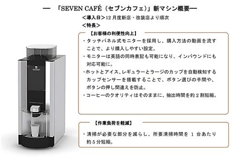 セブンイレブン、客がボタンの押し間違いをしなくて済む新型コーヒーマシンを導入