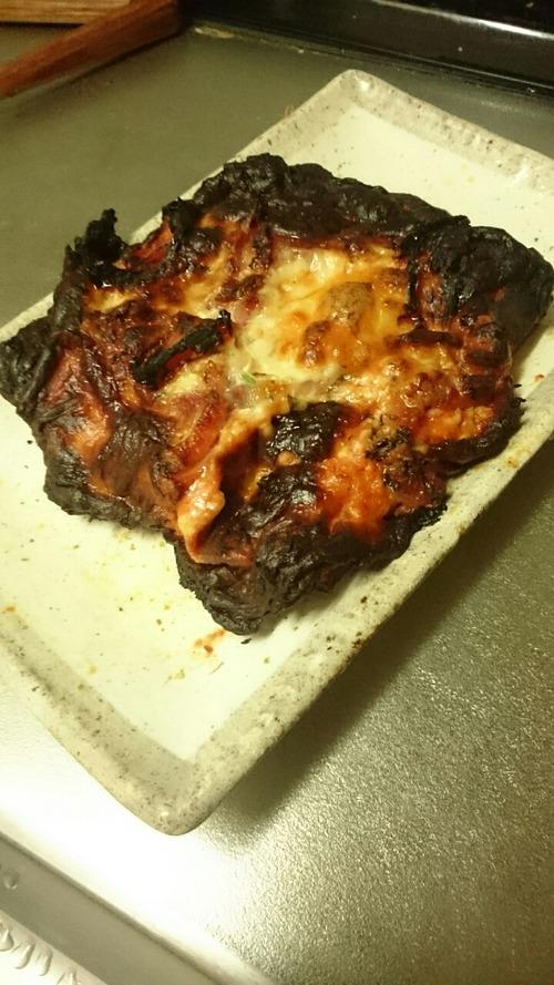 ピザが焼けたよー