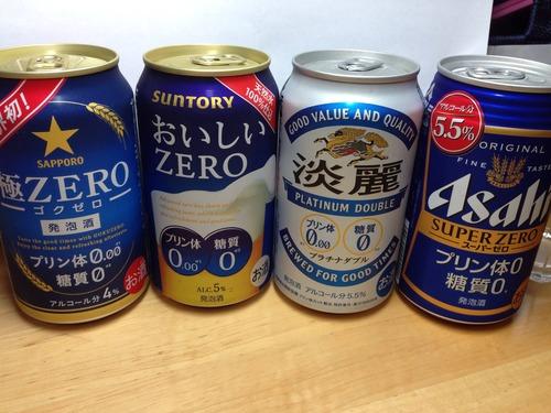【発泡酒】ビール大手4社がプリン体糖質0の発泡酒を出したので飲み比べてみる