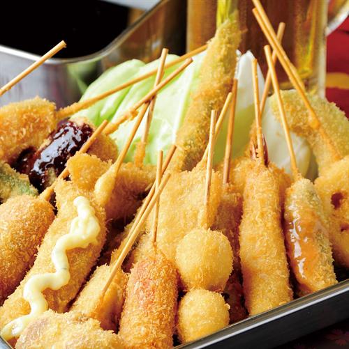 大阪人は串カツばかり食べてるイメージが有るけど実はあんまり串カツ食べないらしいな