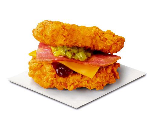 ケンタッキーがチキンでベーコンやチーズをはさんだサンド「ザ・ダブル」を11月1日から販売