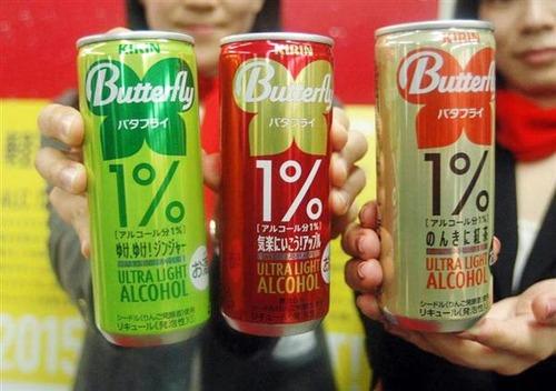ついにアルコール度数1%の缶チューハイが登場wwwwww