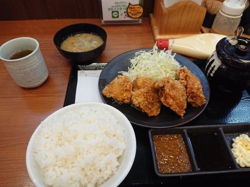 【画像】この唐揚げ定食(690円)