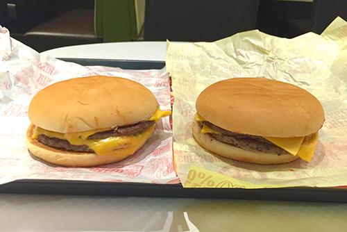 マクドナルド「チーズバーガー(130円)を2個でWチーズバーガー(340円)を自作しても我々と同じ味は出せない」
