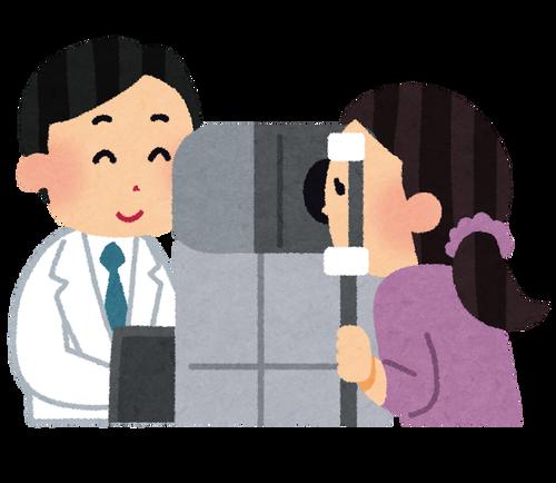 眼科医「はい機械の中を覗いてくださいね」チュイーン…チュイーン…チュインチュインュインチュイン…ピピピ