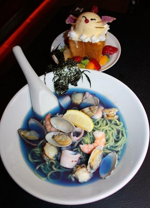 ラーメン 「水神リヴァイアサンの冷やし大海嘯麺」(980ギル=円)高いか安いか