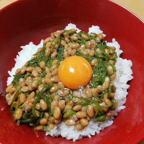 納豆+めかぶ+生卵!!!!!!