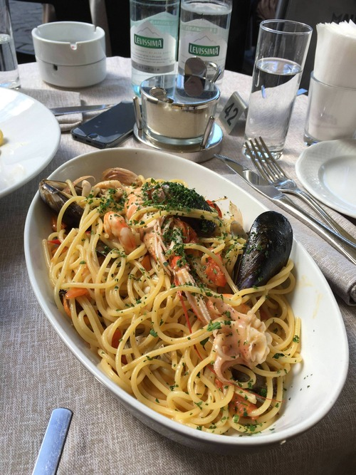 ワイのイタリア旅行で食べた19ユーロのパスタwww