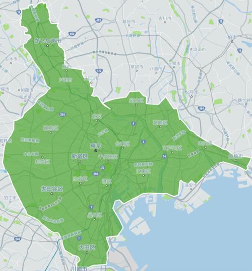 Uber Eats「緑に塗ってるところ以外は田舎な!」