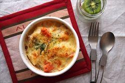 ご飯にシチューかけてチーズ入れてオーブンで焼けばドリアに成る