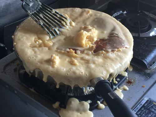 ワイホットケーキミックス一袋焼いて大変なことになる