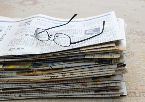 50%の家庭が新聞買ってない