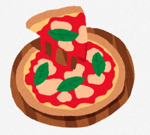 宅配ピザ小さいやつ3000円、スーパーの出来合いピザでかくて600円