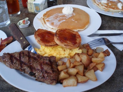 【画像】アメリカの朝食ヤバすぎて草