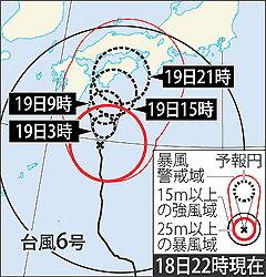 台風まさかのうどん県直撃ルートで緊急うどん茹で警報